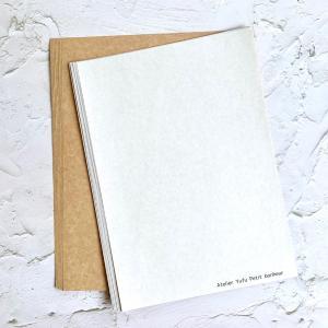 A4用紙からA6カード用の封筒を作る&使ってる用紙について②