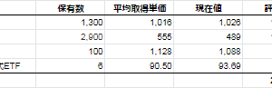 【-6.6%】投資状況(株式編 2020/2/21時点)