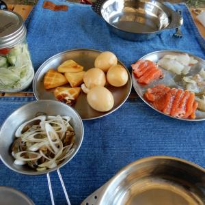 キャンプ飯 真鯛・サーモンの燻製カルパッチョ