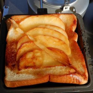 キャンプ飯 焼きリンゴトースト