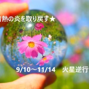情熱の炎を取り戻す2か月間~ヒントは〇〇の自分にある☆~【9/10~11/14火星逆行】
