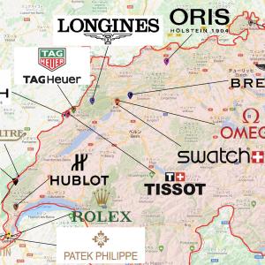 【保存版】有名スイスブランド16社の本拠地まとめ【地図】