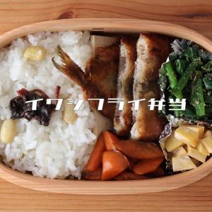 新しいお弁当箱。イワシフライの弁当【2020年1月13日】