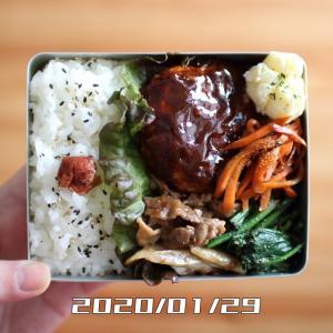 鶏胸肉のハンバーグ弁当【2020年1月29日】