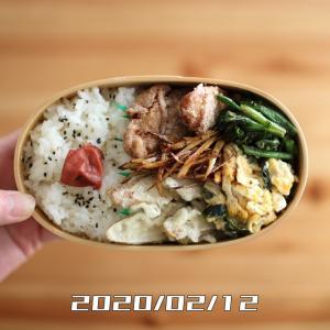 鶏もも肉の唐揚げと天ぷらのお弁当【2020年2月12日】