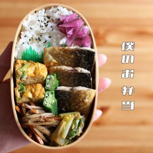 塩サバと菜の花の卵焼き弁当【2020年4月5日】
