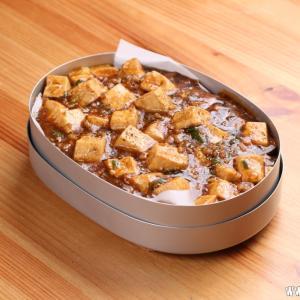 賞味期限間近の豆腐で麻婆豆腐丼弁当