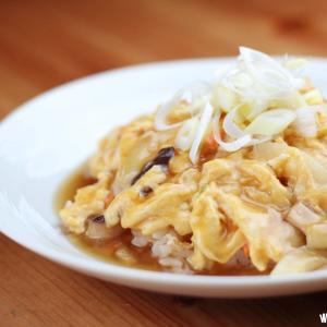 お昼ごはんは天津飯風の何か