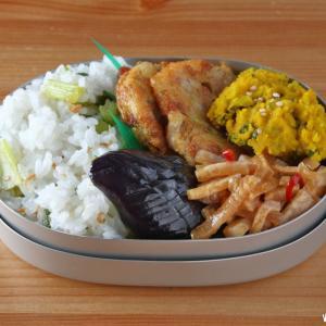 納豆の天ぷら弁当