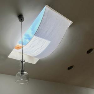 [お金をかけない家づくり]天窓の日除けは自家製です