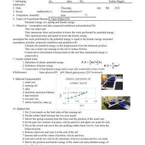 MYP4 PHYSICS U1S5 Elastic potential Energy