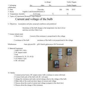 IP6S General Physics U2S13 Bulb resistance