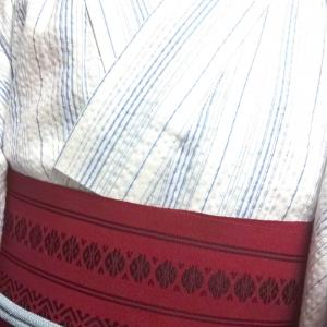 しじら織の着物コーデ