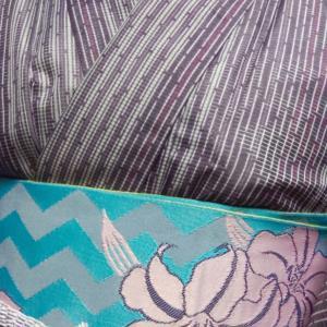 紫の着物コーデ