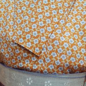 山吹色の着物コーデ