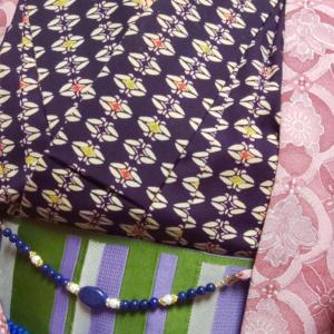 紫のウールコーデ