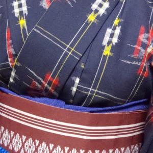ウールの着物コーデ