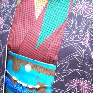 紫の羽織コーデ