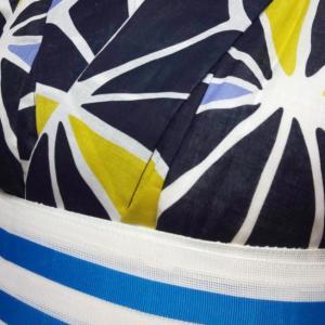 麻の葉の浴衣コーデ