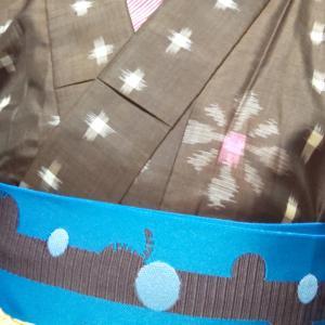 500円の銘仙と羽織コーデ
