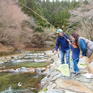 春告げるアマゴ漁が解禁「渓流釣り楽しんで」 京都・由良川