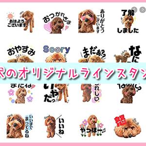 18個2000円~!愛犬の写真を使用した可愛いオリジナルラインスタンプを注文してみたよ♪コメント入り!