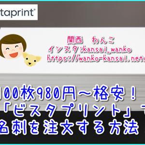 【格安ネット印刷】愛犬の名刺が100枚980円~!ビスタプリントで簡単に作成!わんちゃんのオフ会などに大活躍!