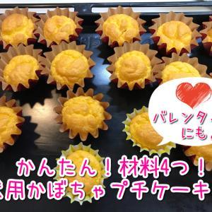 【犬用かぼちゃプチケーキ】かんたん手作りレシピ♡材料4つだけ!愛犬のうまうまオヤツ!プレゼントにも♡