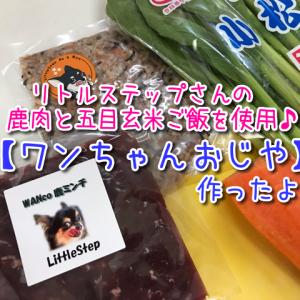 【犬の手作りご飯】ペットご飯のお店little-step(リトルステップ)の商品を使用したワンちゃんおじやを作ったよ♪