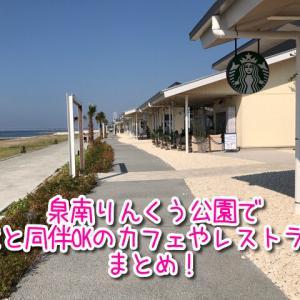 泉南りんくう公園の犬と一緒に行けるカフェやレストランまとめ!スタバもあり!