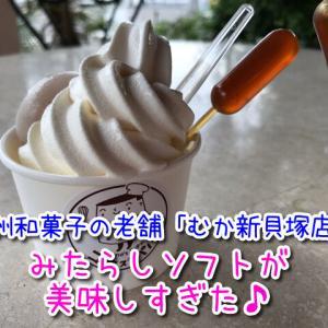 【むか新貝塚店】みたらし団子入りのソフトクリームが美味しい!テラス席ワンちゃん同伴オッケーです!(※店舗による)
