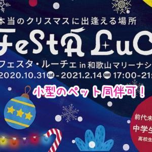 【フェスタルーチェ2020】和歌山マリーナシティで今年も開催!ペット同伴OK!本当のクリスマスに出逢える場所!
