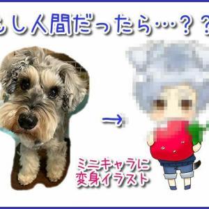 ペットのイラストを依頼してみた!もし人間だったら…?愛犬を可愛いミニキャラに変身!グッズ作りに使用可能!
