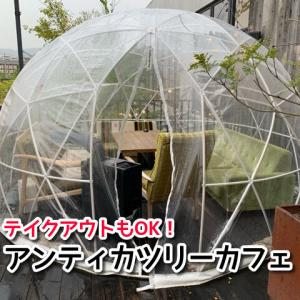 【アンティカツリーカフェ】大阪府和泉市ドーム型テラス席ペットOK!駐車場無料☆テイクアウトもできます!