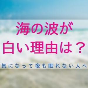 海の波が白い理由は3つ!キミが心の底からわかるまで解説するよ
