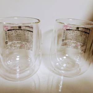 ダイソーの「ダブルウォールグラス」をやっと手に入れれました(*´ω`*)