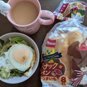 お昼に朝食