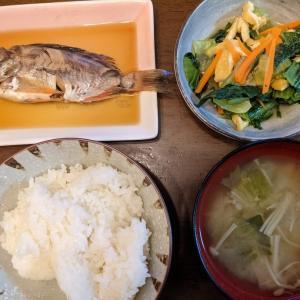 お夕飯(めばる)