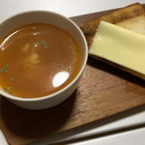 【コストコ】ロティサリーチキンの残りものレシピ『トマトチキンスープ』