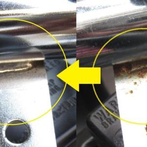 メッキの赤錆 クレンザーとブラシで簡単に落とせるが鏡面メッキは錆取り剤がおすすめ