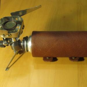 革工芸⑤ 本革でカセットボンベ(CB缶)カバー