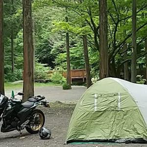 キャンプツーリング 国道1号を走って富士山麓のキャンプ場へ