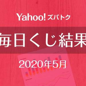 【Yahoo!ズバトク毎日くじ】2020年5月のくじ結果と前月比較、状況悪化が止まらない