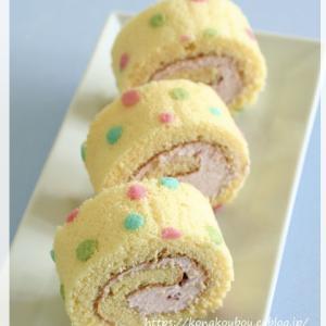 3月のお菓子・水玉ロールケーキ