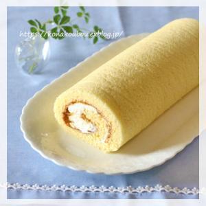7月のお菓子・梅のロールケーキ