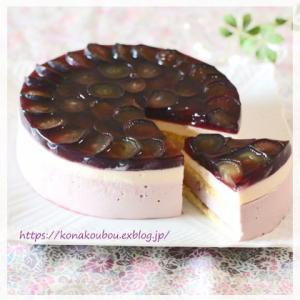 9月のお菓子・葡萄とチーズのムース