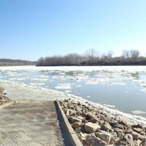 氷点下のMissouri River