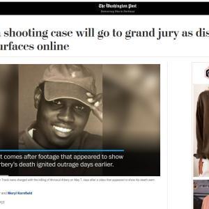 人種差別で注目の事件!! 【ランニング中の黒人青年が白人親子に銃殺】