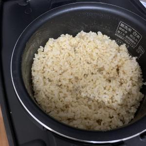 2021年8月25日の日記 圧力IH炊飯器で発芽玄米もおいしくたけた