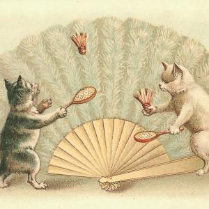 【フリー素材】面白かわいい猫のイラスト【アンティーク/ヴィンテージ】